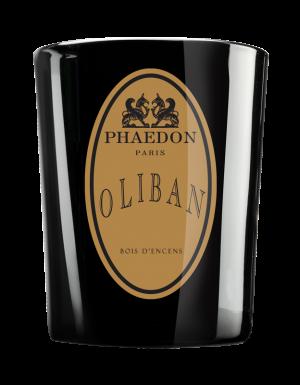 Phaedon Paris - Scented Candle Parisienne 190g - Oliban, Incense, Amber, Cedarwood